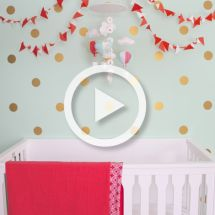 Project Nursery - Gold Polka Dot Wall Decal Nursery - Project Nursery