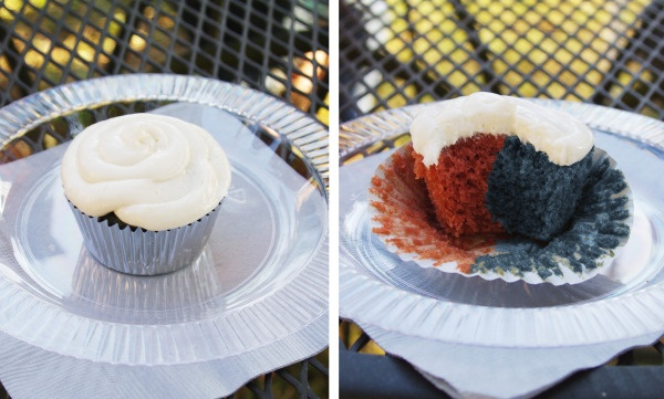 House Divided (Purdue & UCLA or Cowboys & Dolphins) Cupcakes - Tailgate & Celebrate Engagement Party