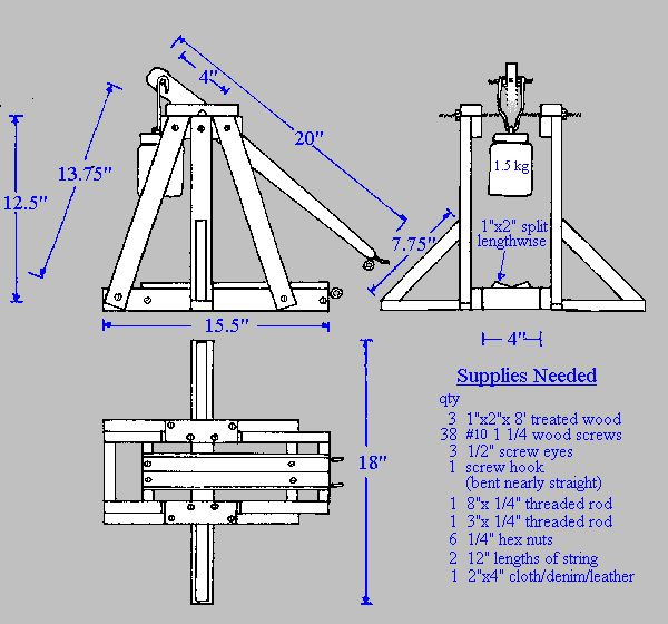 62 best images about trebuchet on pinterest medieval weapons distance and design tech for Catapult design plans for physics