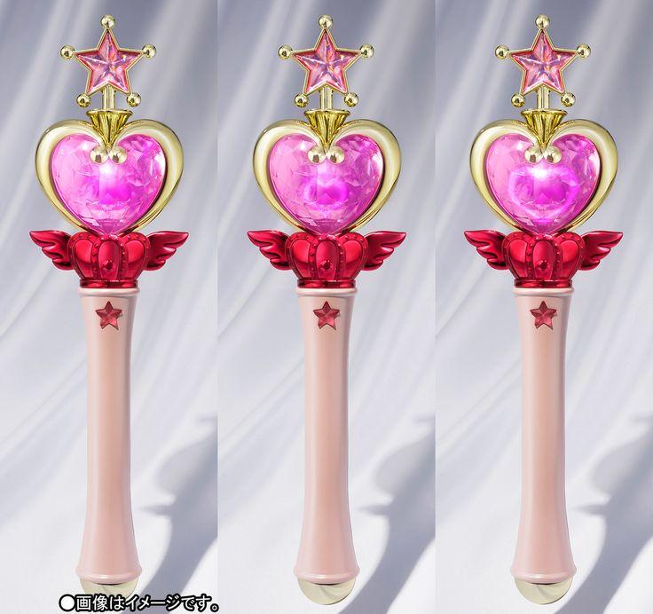 """sailor moon"" ""sailor moon wand"" ""sailor moon proplica"" ""sailor chibi moon"" ""sailor chibimoon"" ""pink moon stick"" ""sailor moon toy"" ""sailor moon merchandise"" ""sailor moon collectibles"" tamashii bandai shop japan anime 2017"