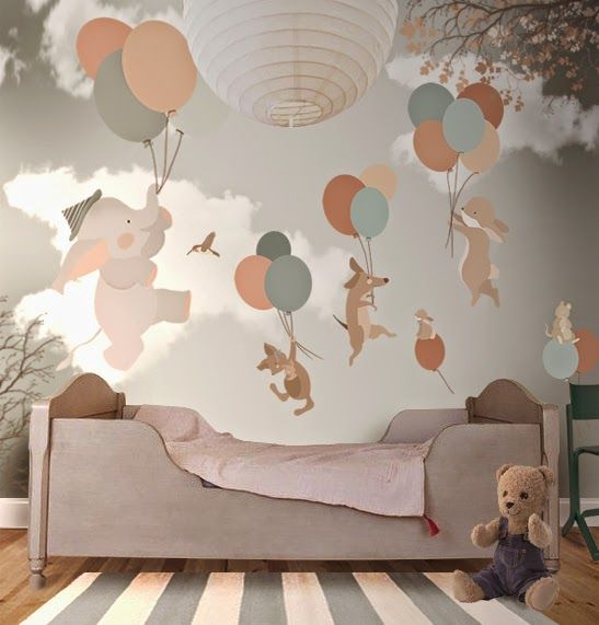 How enchanting are these #wallpapers?! | #ChildrensInteriors | Little Hands