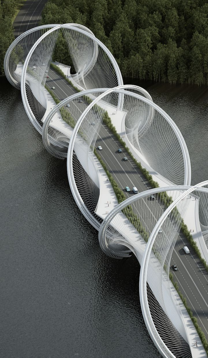 Architecture firm Penda and engineering firm Arup have teamed up to undertake the ambitious goal of redesigning the suspension bridge, with their newly commissioned project to build the San Shan Bridge in China. The bridge will be completed in time for the 2022 Winter Olympic Games in Beijing, and will span across the Gui River connecting Beijing's city center to Zhangjiakou. The inspiration for San Shan Bridge is a combination of the Olympic symbol and its five rings, the location's…