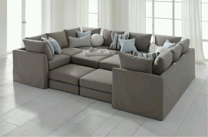 Elegant Huge Sofa   Making A House A Home   Pinterest   Cozy Living Rooms, Living  Rooms And Cozy Living