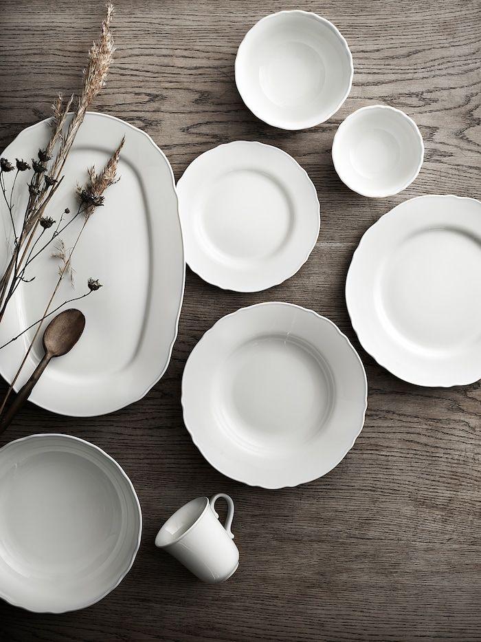 assiette blanche service de vaisselle