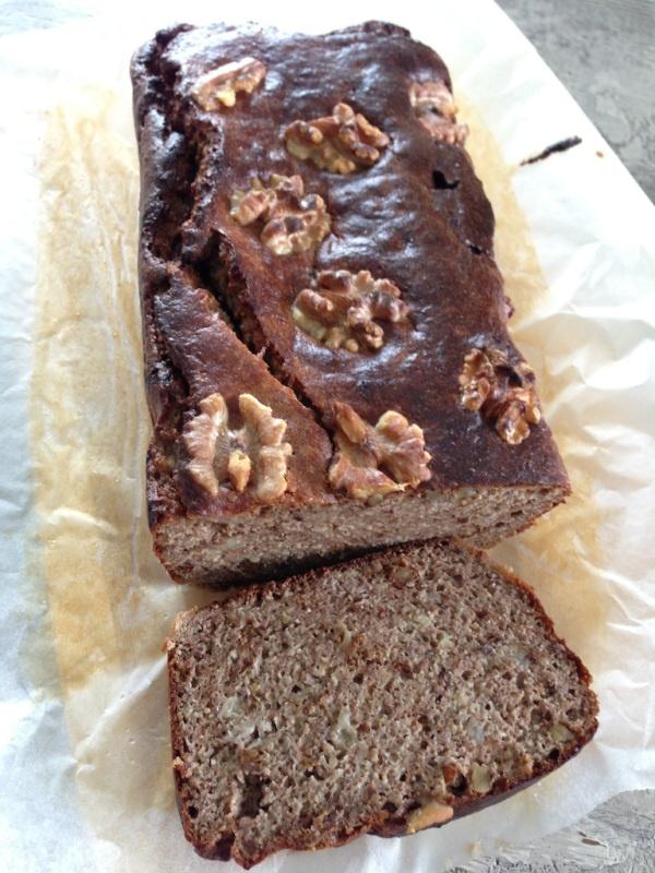 Paleo Banana and Walnut Bread