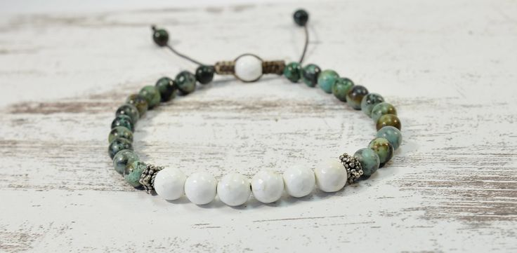 Excited to share the latest addition to my #etsy shop: Urban Men's Turquoise & Howlite Pull Tie Single Bracelet. Boho Jewelry. http://etsy.me/2BQOpy1 #jewelry #bracelet #blue #tie #silver #yes #boys #turquoise #white