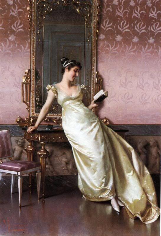 The Green Dress'. Undated. Vittorio Reggianini