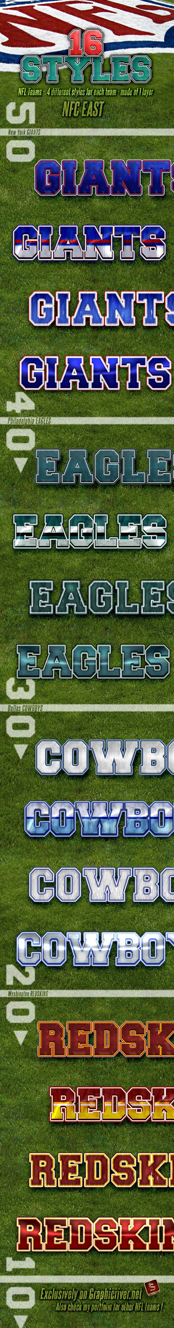 NFL Football Styles NFC East — Layered PSD #philadelphia #team • Available here → https://graphicriver.net/item/nfl-football-styles-nfc-east/4730354?ref=pxcr