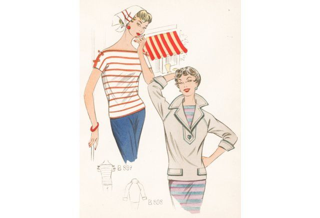 French Nautical Fashion, 1958
