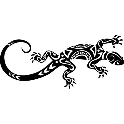 #Lagartija tattoo. #Pegatina en #vinilo recortado para coche