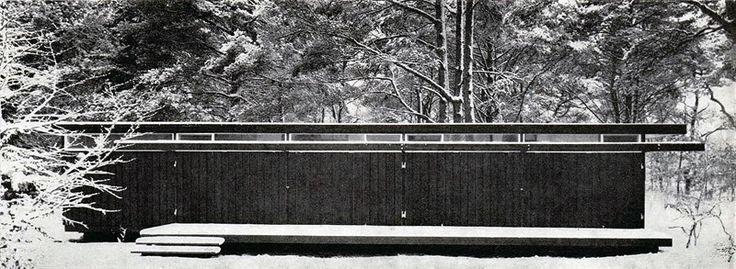 Vilhelm Wohlert - Summer house for physicist Niels Bohr, Tisvilde 1957. Via.