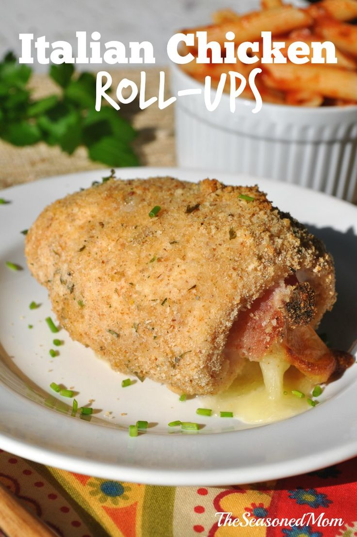 Italian Chicken Roll-Ups: a twist on Chicken Cordon Bleu and an easy, family-friendly weeknight dinner!