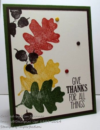 Today I have a clean and simple fall card using the new For All Things stamp set. Stampin' Up!...