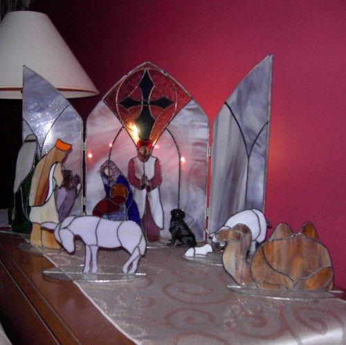Stained Glass Nativity Scene - commissioned work | MikeWhiteGlassDesigns - Seasonal on ArtFire
