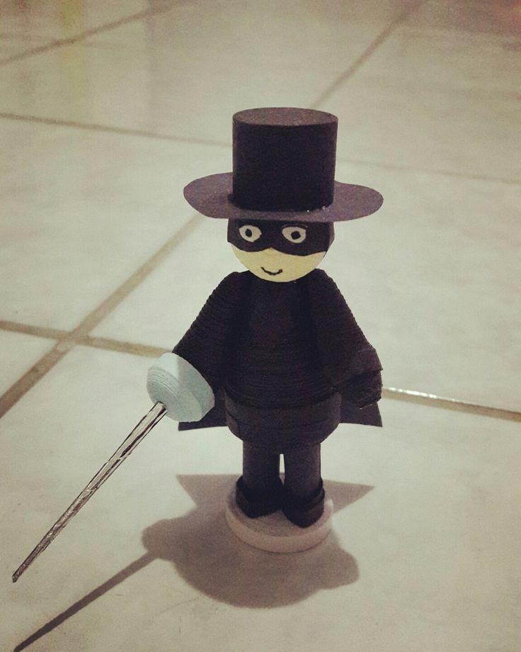 Yeey my hero, Zorro quilling.