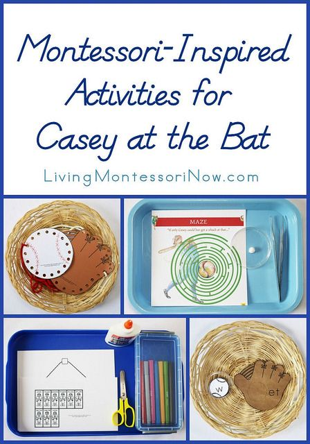 "Montessori-inspired activities for ""Casey at the Bat"" using free baseball printables and Maestro Classics music."