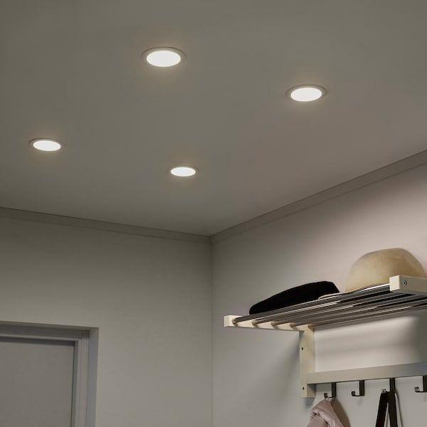 Lakene Led Recessed Spotlight Opal White Ikea Led Lighting Bedroom Led Recessed Lighting Lighting Design Interior
