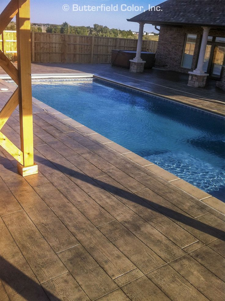 12 Wood Plank Stamp Pool Deck