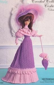 Free Crochet Pattern - Cherries Jubilee 15inch Doll Outfit from