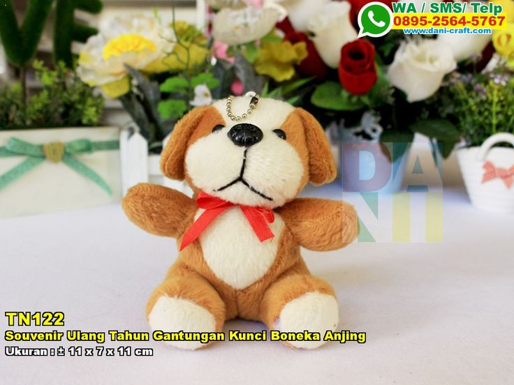 Souvenir Ulang Tahun Gantungan Kunci Boneka Anjing WA/SMS/TELP: 0896-3012-3779 #SouvenirUlang #PabrikUlang #desainundanganPernikahan