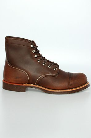 Red Wing The 8111 Iron Ranger in Amber Harness Leather #Mens-Fashion
