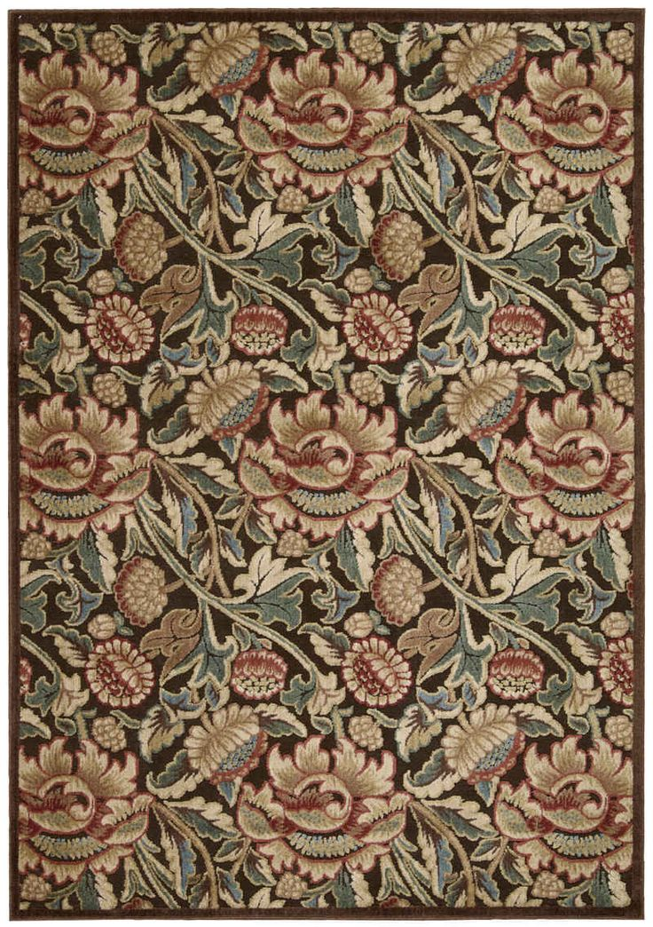 Nourison Rugs GIL10 Brown from the Graphic Illusions Collection. Machine Made in China of Synthetic. 30% POLY,70% ACRYLIC Striking, bold patterns define this alluring collection of tantalizing rugs. F
