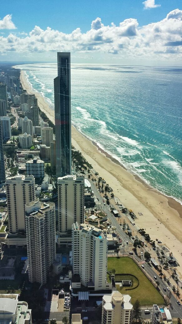 THAT VIEW! SkyPoint Observation Deck, Surfers Paradise http://www.queenslandholidays.com.au/things-to-see-and-do/skypoint-observation-deck/index.cfm #thisisqueensland
