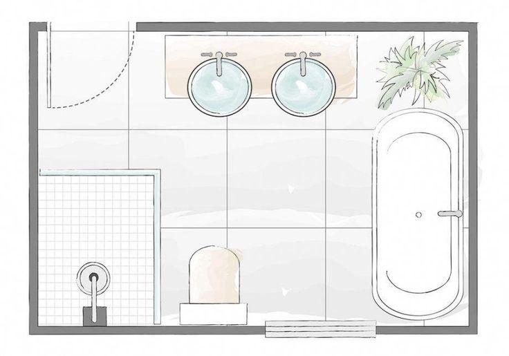 Badezimmer-Layout-Plan-3 #smallbathroomdecor