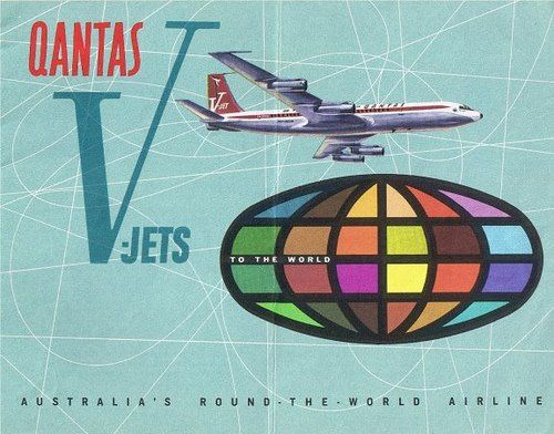 Qantas V jet 707 graphics