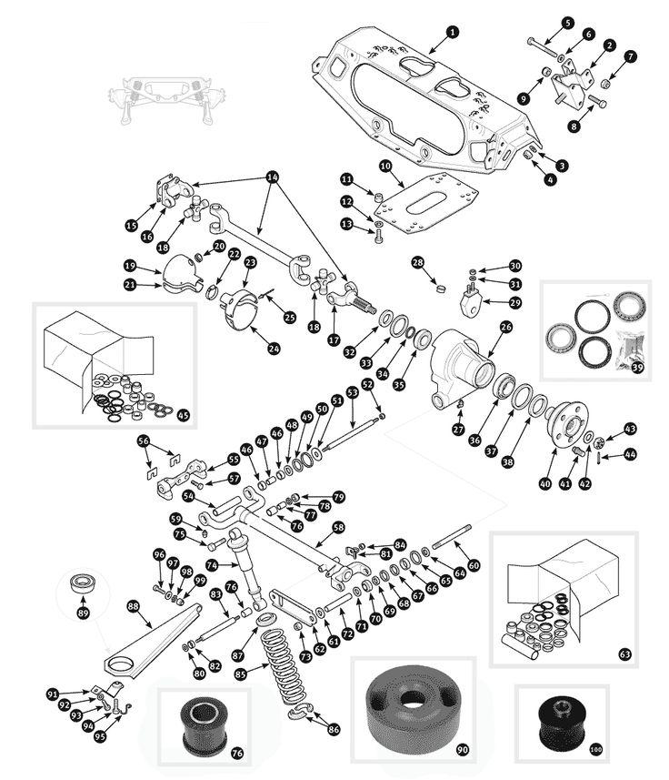 Parts for Jaguar XJ6 and Daimler Sovereign • Hub, shock