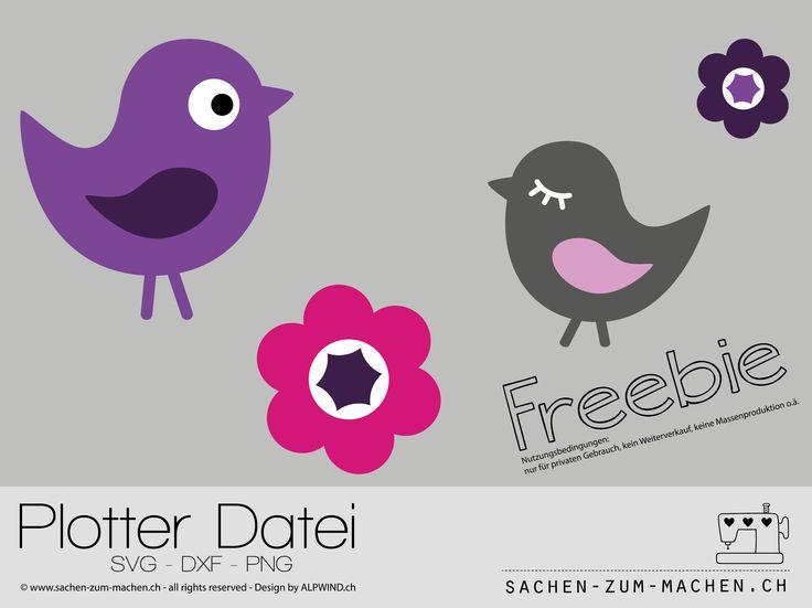 Freebie - plotter 003 Voegelchen