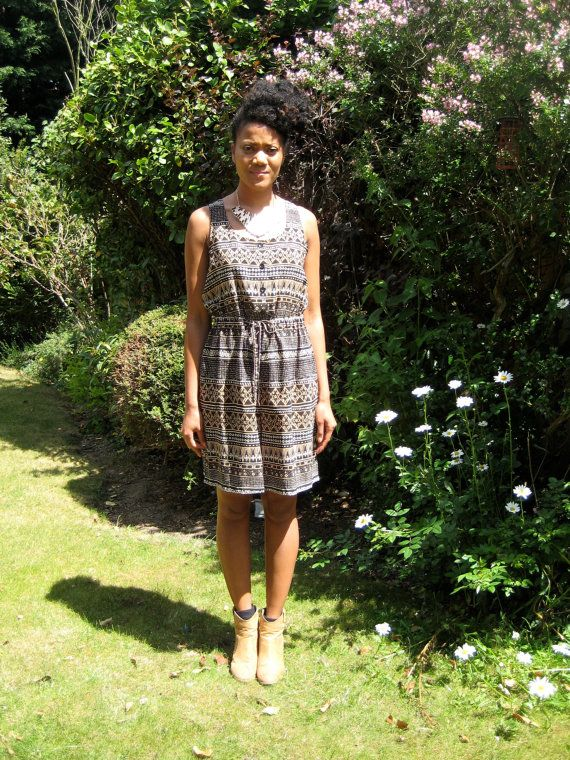 Vintage Tribal Print Playsuit by DottyTheresaVintage on Etsy