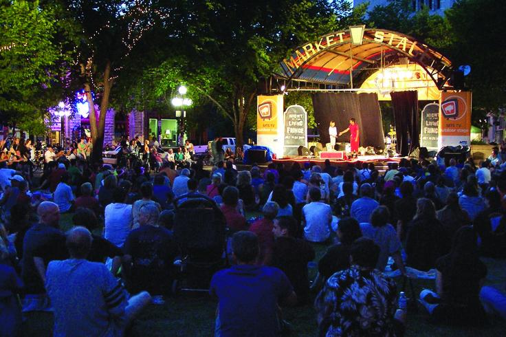 Old Market Square Performance during the Winnipeg Fringe Festival