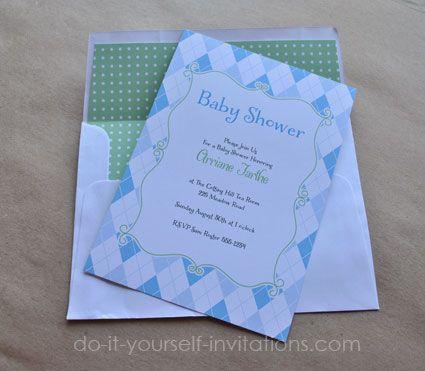 136 best DIY Baby Shower Invitations images on Pinterest Diy baby