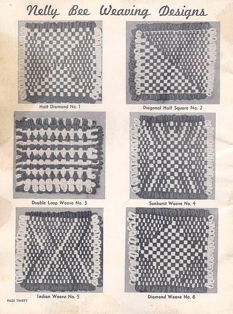 Nelly Bee Loom Weaving Designs.