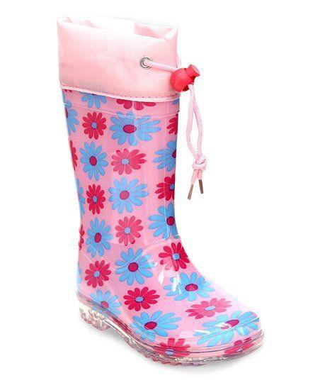 Jelly Beans Pink Polka Dot Rain Boot | zulily