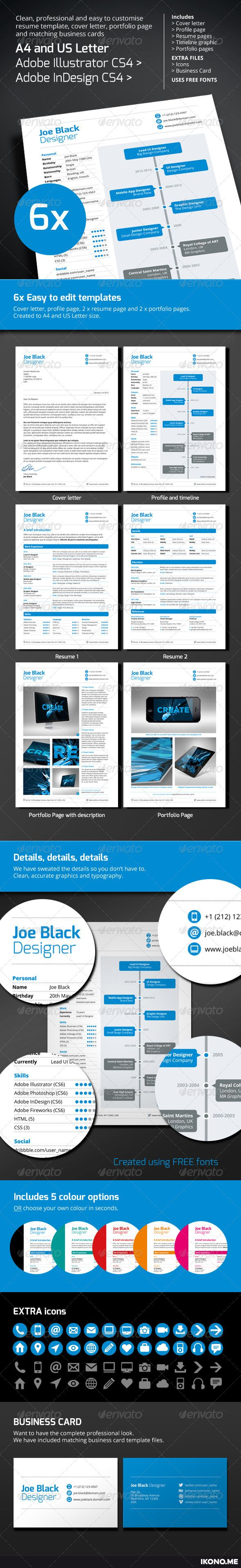 67 best resume templates images on pinterest professional resume red flexible multi page resume template yelopaper Image collections