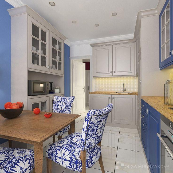 Дизайн интерьера кухни в ЖК Дом-Мегалит на Неве