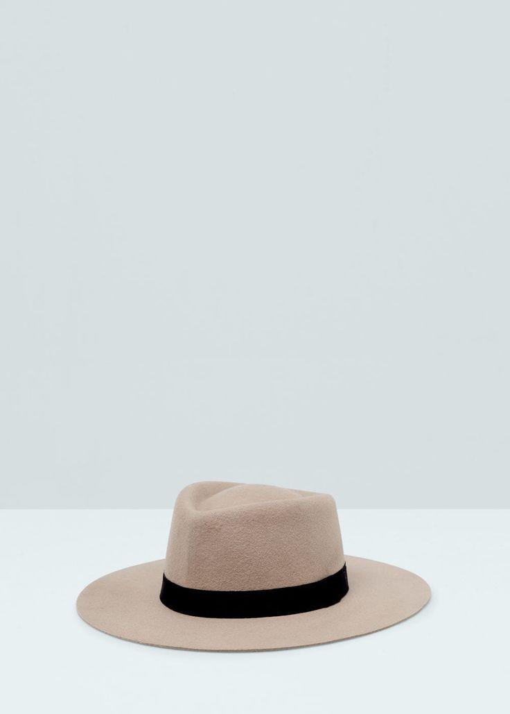 Chapeau fedora en laine