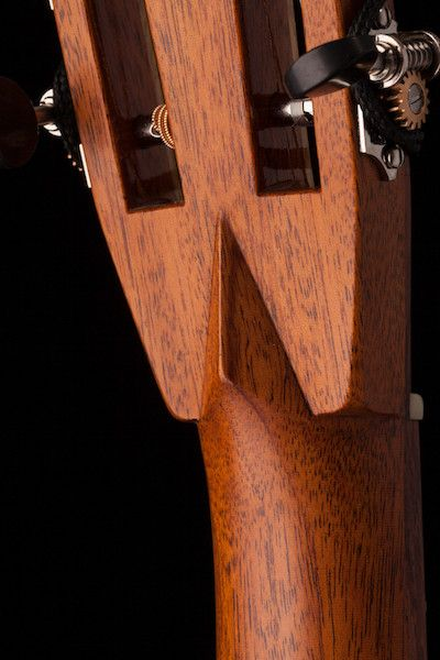 Slotted headstock with Bird's Beak Joint (extra charge applies)
