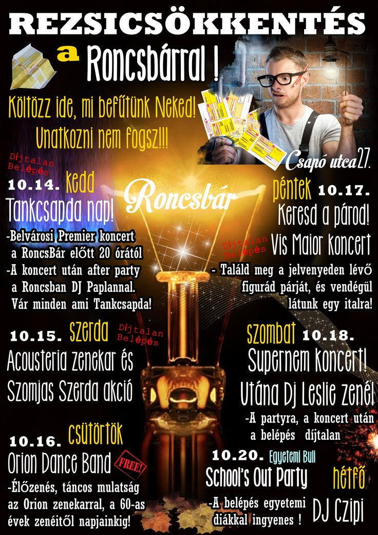 Roncsbár Debrecen www.roncsbar.hu