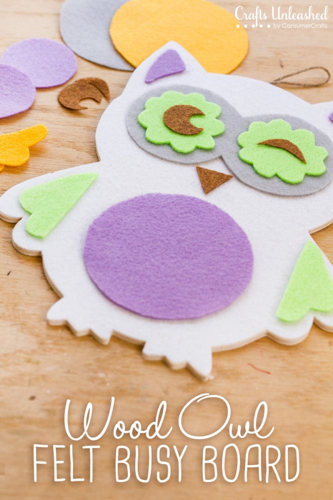 Make this super easy Wood Owl Felt Busy Board to entertain kids on the go! Also…