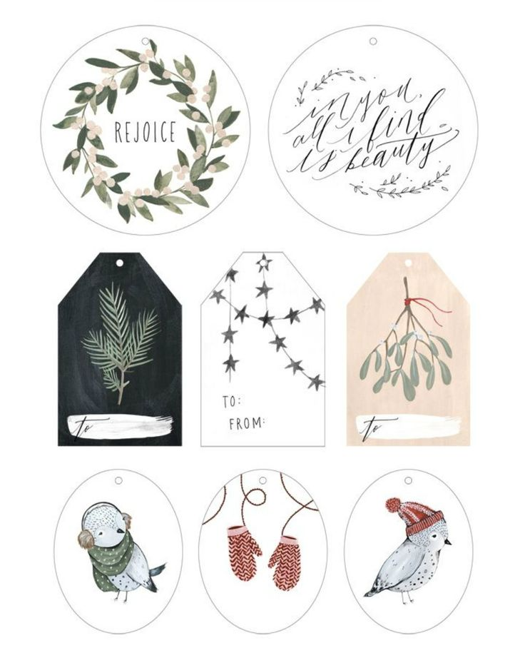 Etiquetas de Navidad gratuitas en All Lovely Party #Christmas Tags