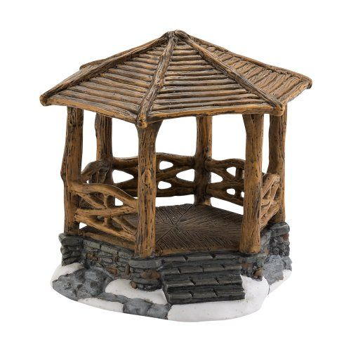 Department 56 Accessories for Village Collections Woodland Stone Gazebo General Accessory 382Inch * Be sure to check out this awesome product affiliate link Amazon.com
