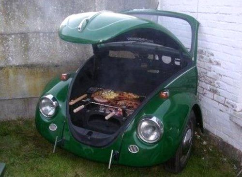 I hope the VW Beetle they used was in an accident--they are too awesome for this!