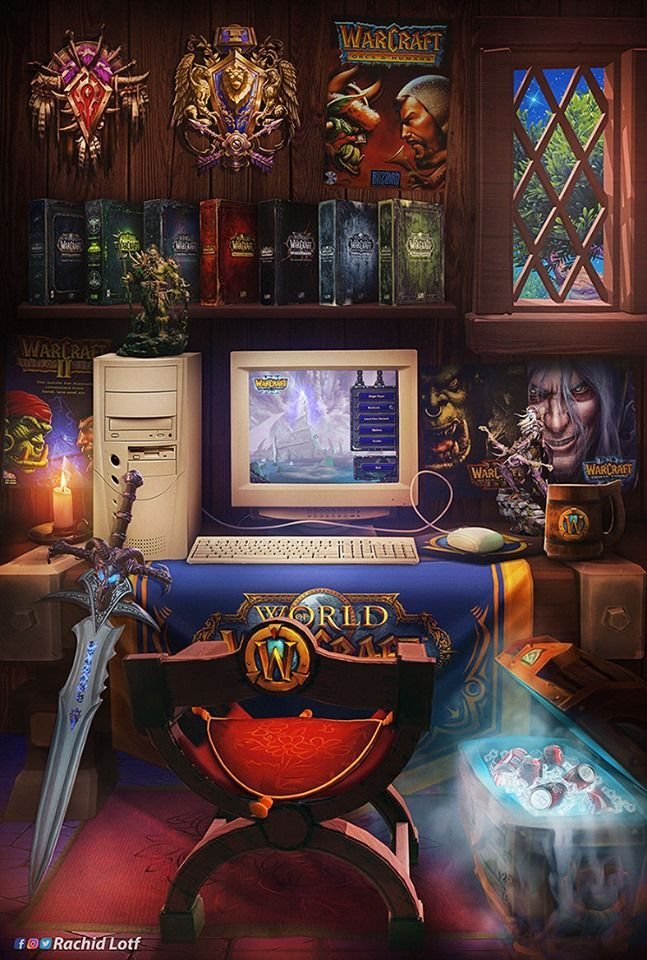 Legacy Of Warcraft By Rachid Lotf Retro Gaming Art Warcraft