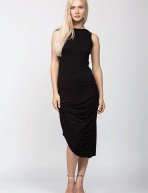 Rochie drapata neagra
