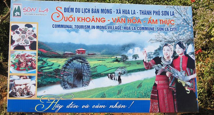 Billboard at the Son La town. #vietnam #sonla #tourism #billboard #advertising #travel