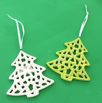 Ceramic trees from Shamrock Craft are perfect to paint and use a decorations this holiday season!