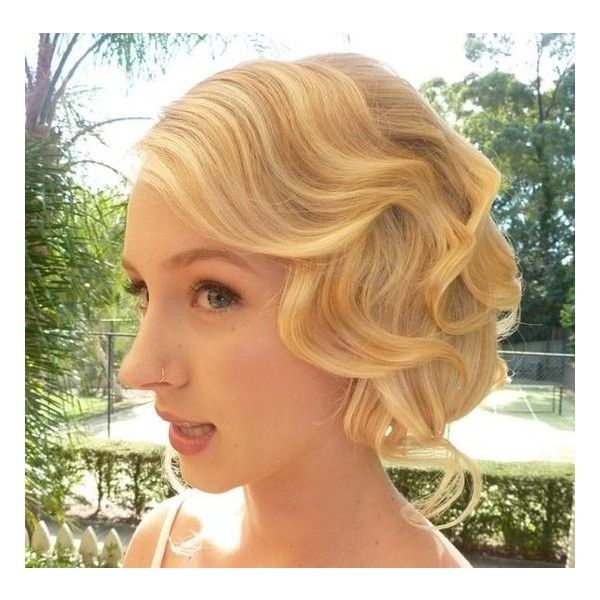 vintage updo Hairstyles and Beauty Tips found on Polyvore
